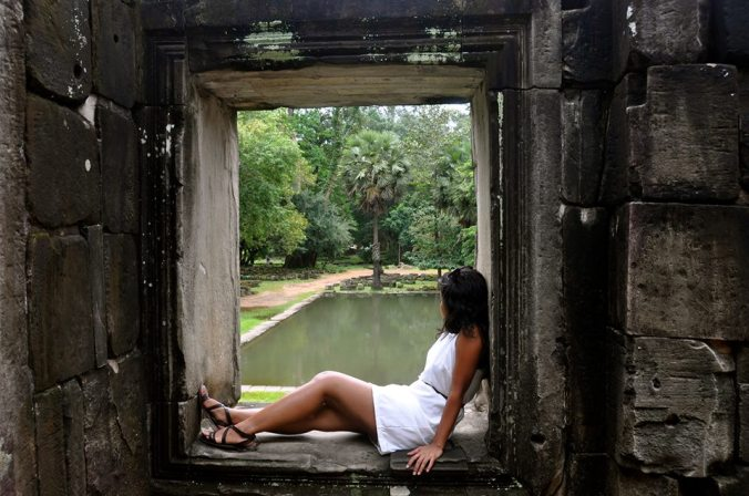 At Angkor Wat. Photo by Hadidd Ahmed